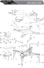 1SQ Quadcopter Exploded View