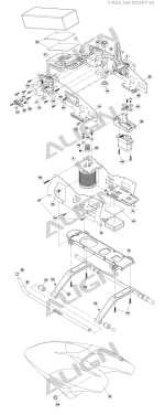 AGNHSP41003 for D4BF Servo Horn Set 4 AGNHSP41003